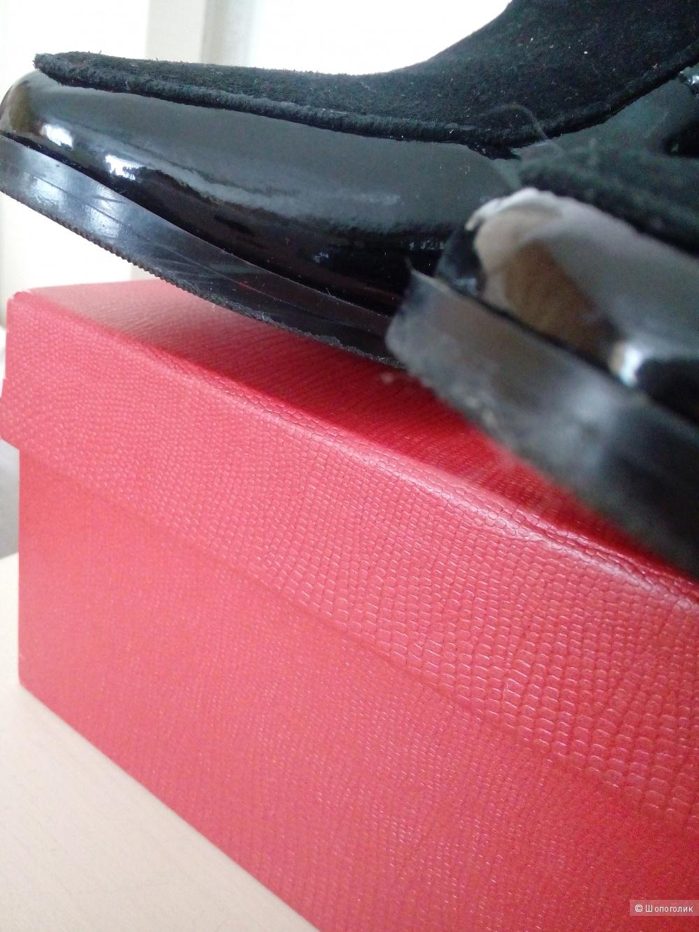 Туфли чёрные лаковые, 37 размер