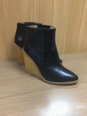 Ботинки кожаные Zara 39 размер