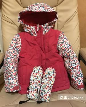 Комплект куртка и варежки Roxy, размер 4T