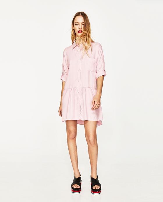 Платье-рубашка Zara, размер S.