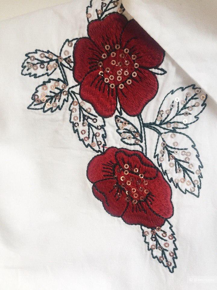 Хлопковая рубашка Zara, XS (40-42)