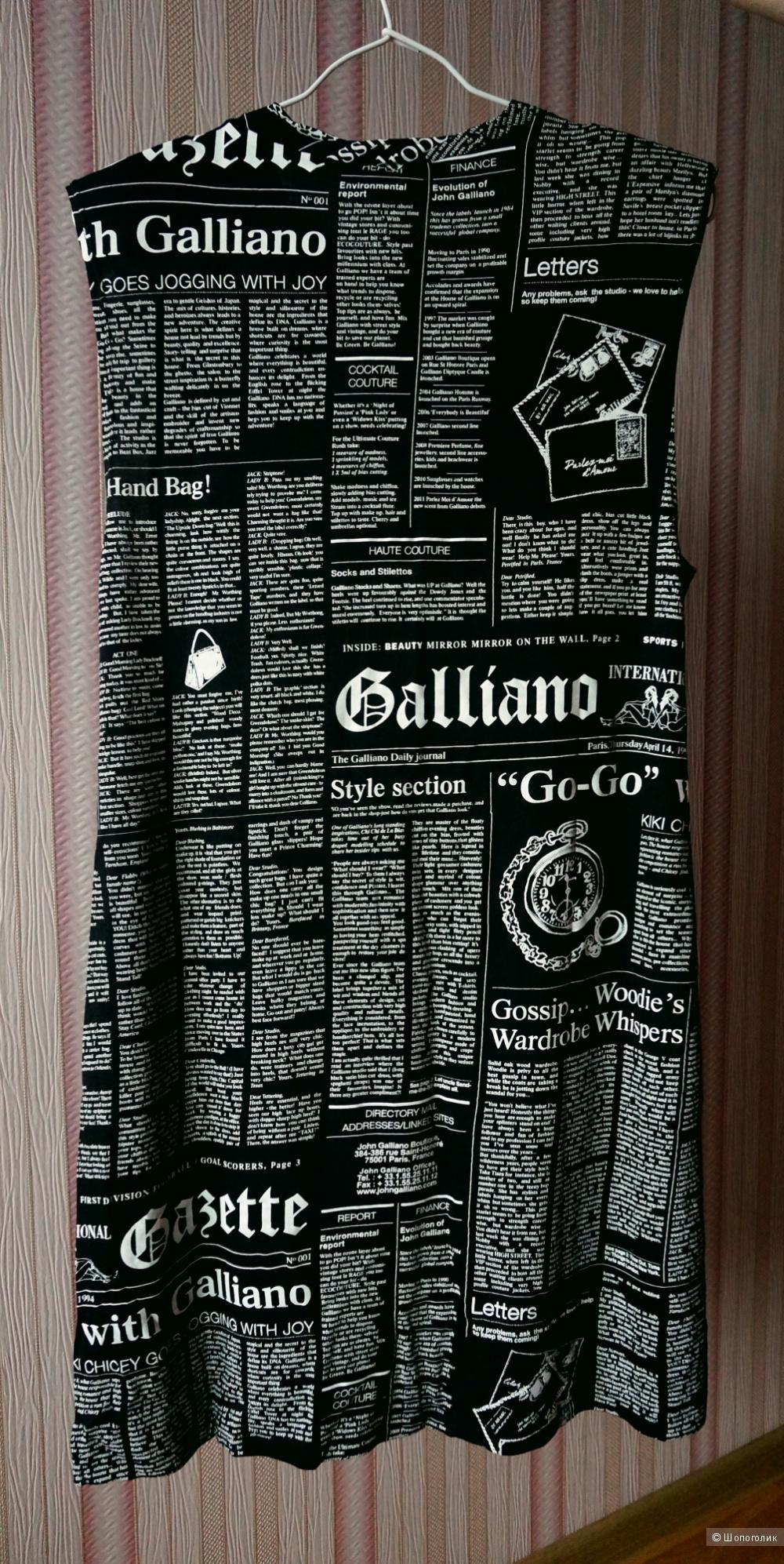 Черное платье John Galliano рос 46-48
