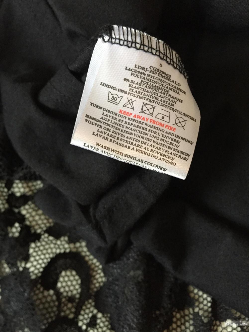 Кружевное платье Brave Soul, размер S, черное