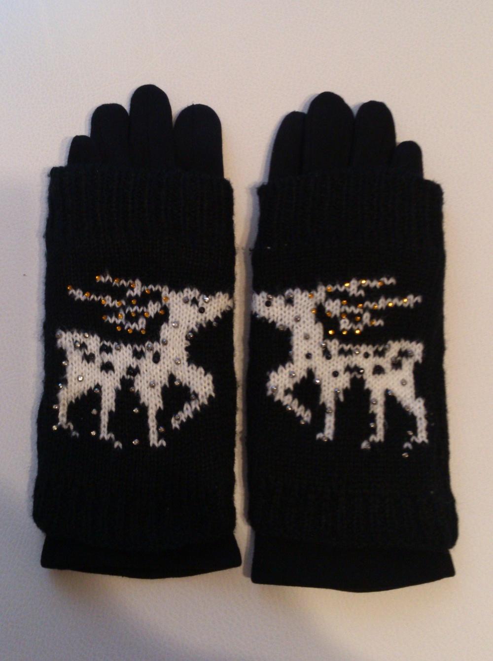 Комплект:  митенки и перчатки , размер 7 или 8