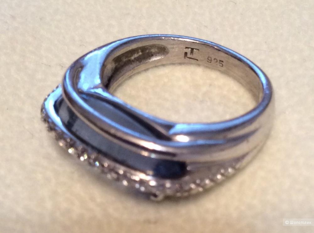 Кольцо серебряное с топазом Ted Lapidus размер 16