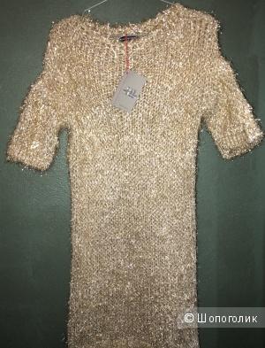 Платье Новогоднее с люрексом , Dins Tricot, Италия, oversize