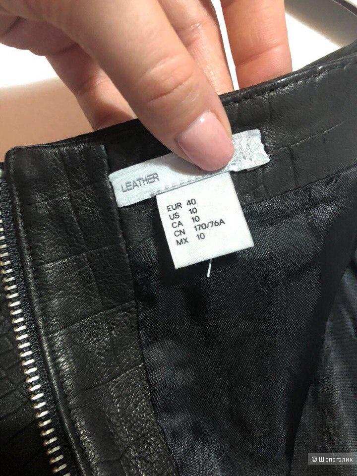 Кожаная юбка H&M 44-46 рос.