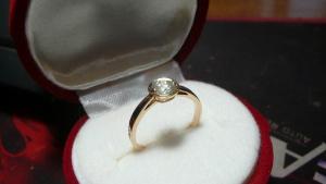 Кольцо женское из золота 585 пробы с бриллиантами, размер 16,5