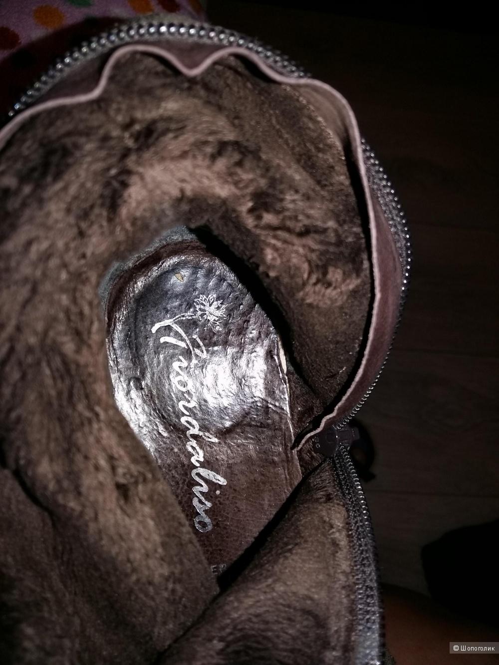 Сапоги 37 размер, натуральная замша , FLORDALISO