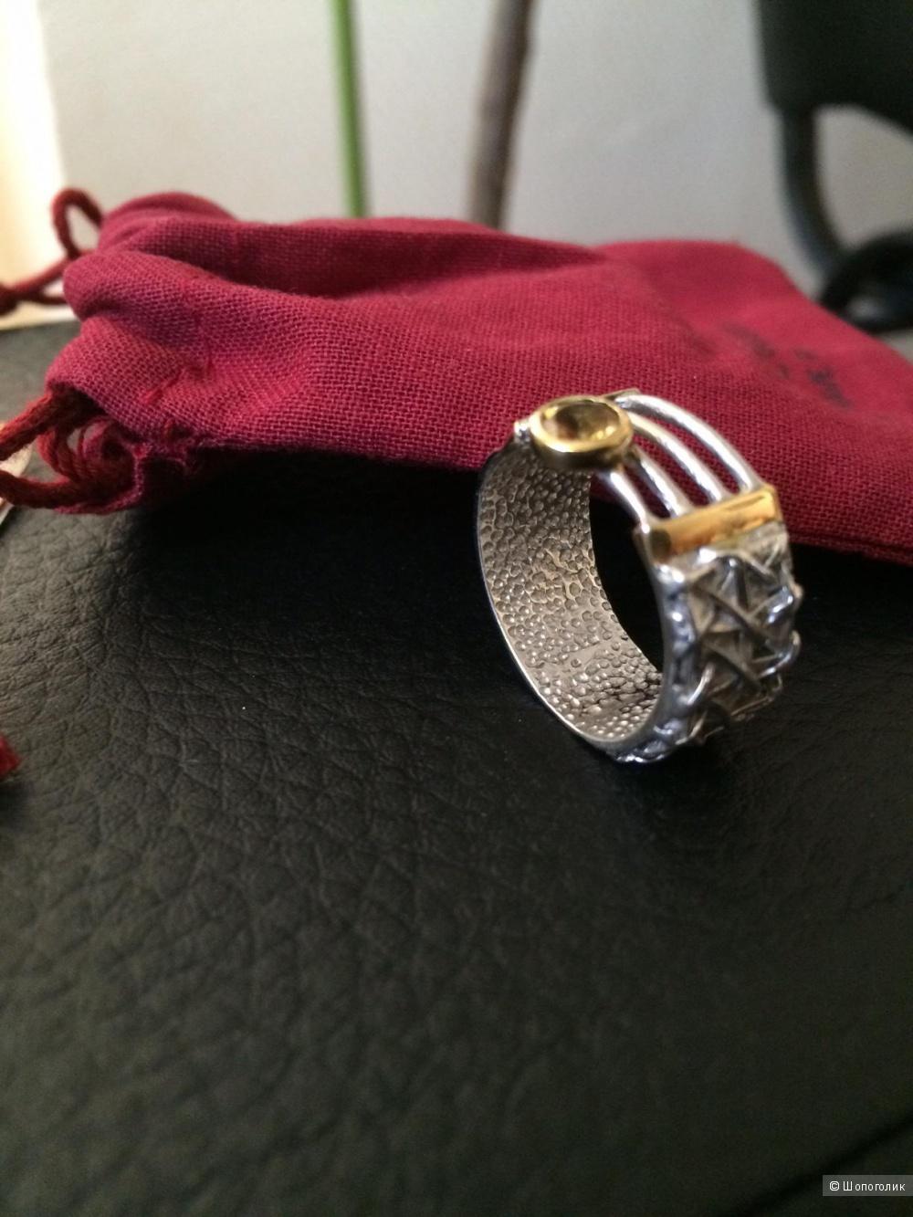 Кольцо с цитрином от G.Kabirski, размер 19.25