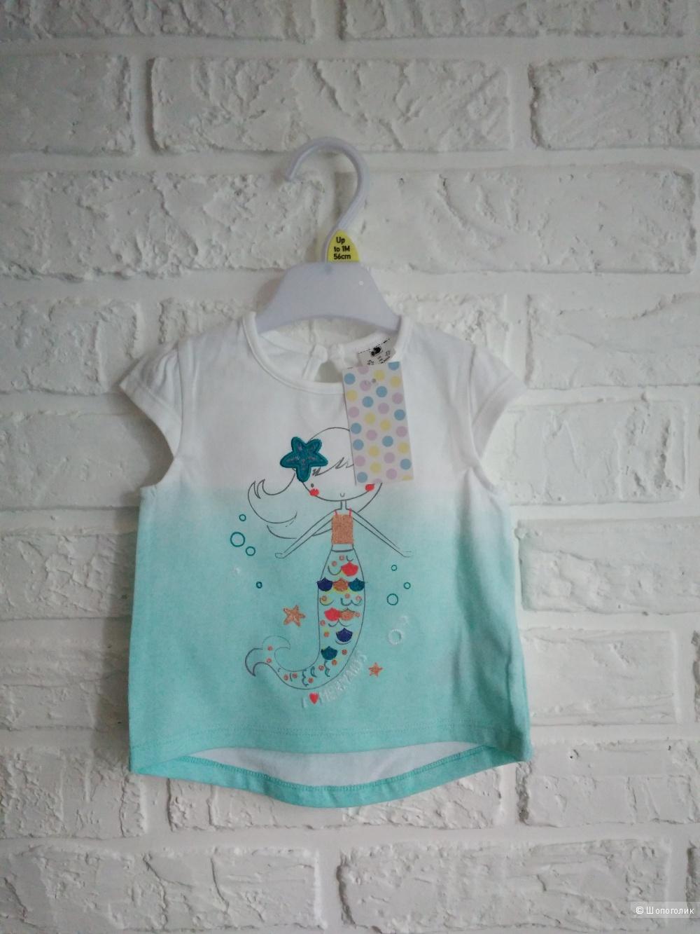Детская майка бренда Florence & Fred, размер 56см