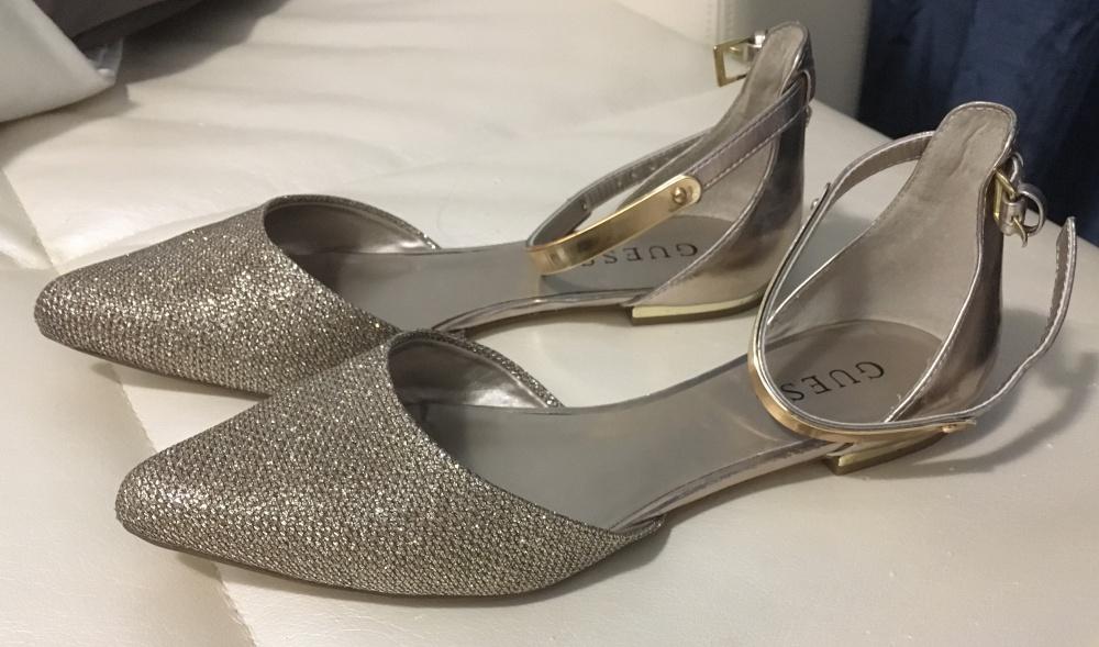 Туфли-балетки GUESS золотые, 36,5 размер