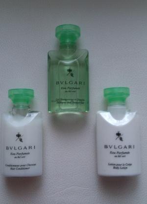 Набор дорожный: шампунь и гель для душа, кондиционер для волос, лосьон для тела; Bvlgari, Италия