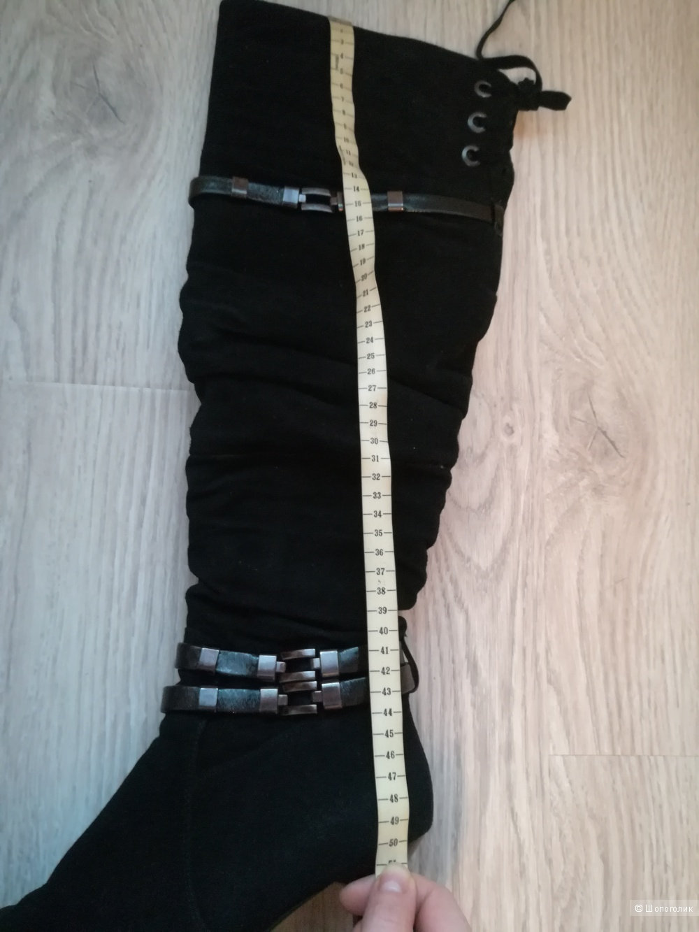 Зимние замшевые сапоги-ботфорты Rita Bravuro 41-го размера
