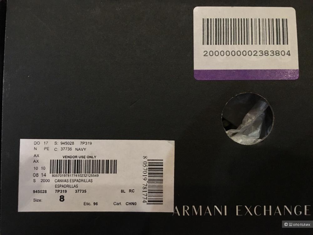 Эспадрильи Armani Exchange, р. 40