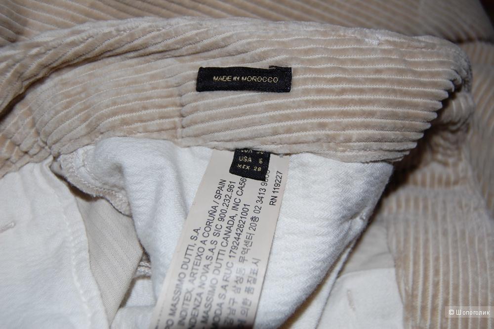 Вельветовые брюки Massimo Dutti разм US6