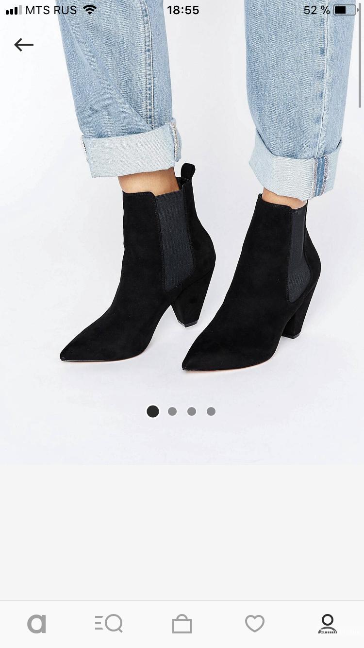 Замшевые ботинки- челси  Asos, размер 40