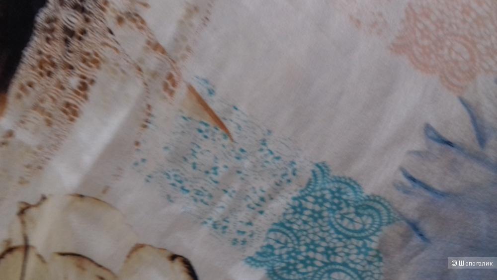 Платок, муслиновый шёлк, 112*112