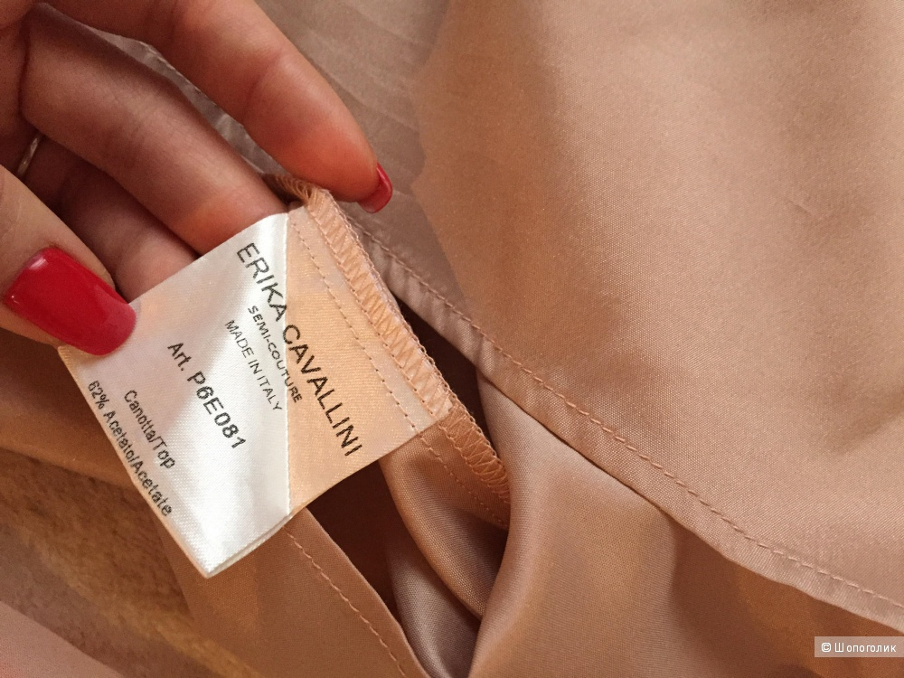 Шелковая блуза без рукавов Erika Cavallini, размер S