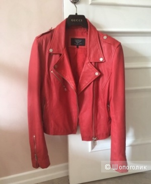 Кожаная куртка Zara 42-44 размер