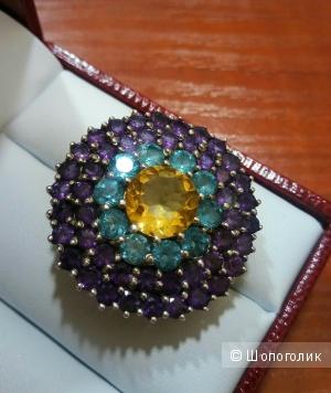 Серебряное кольцо, размер 18