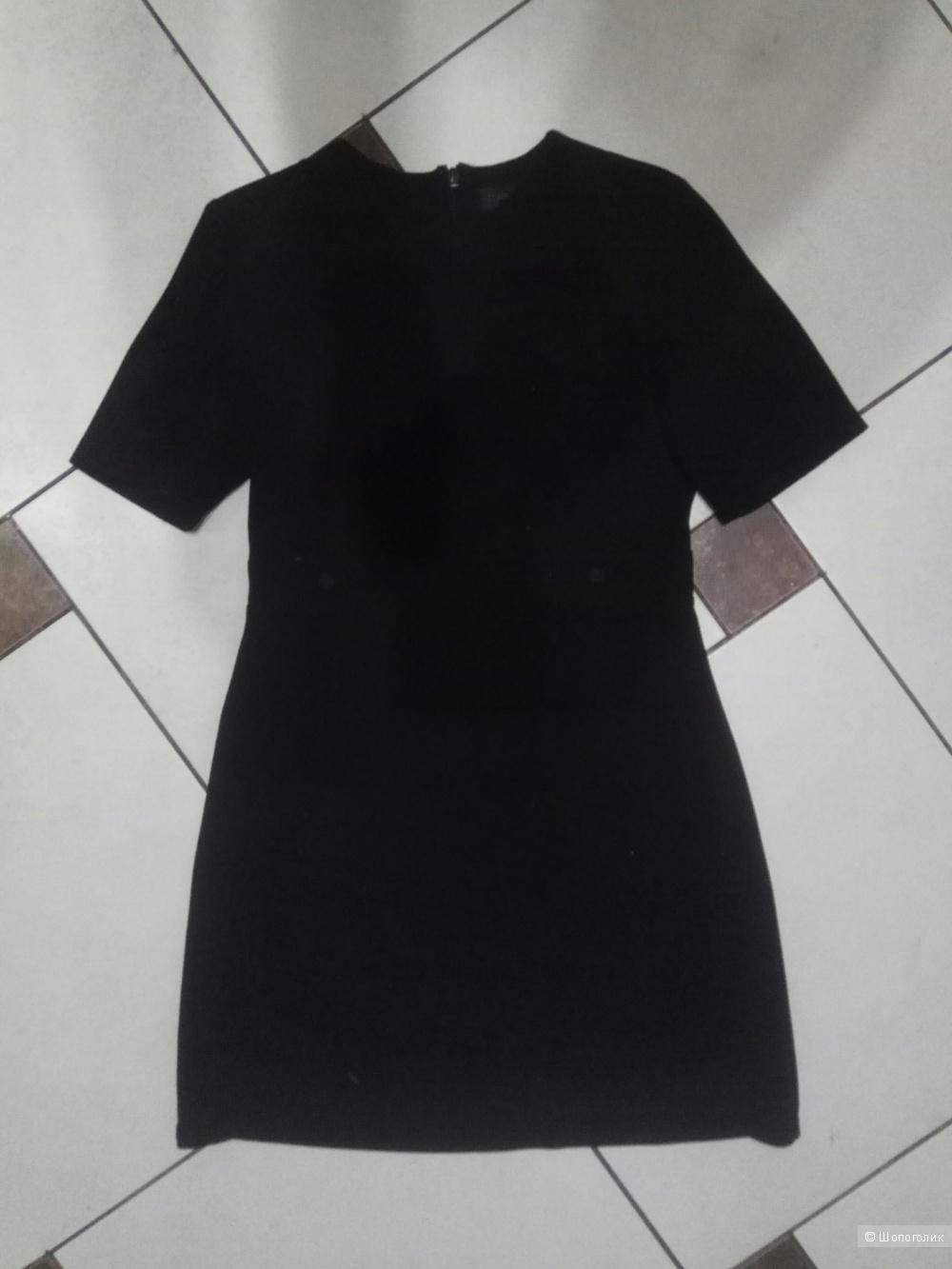 Чёрное платье футляр topshop