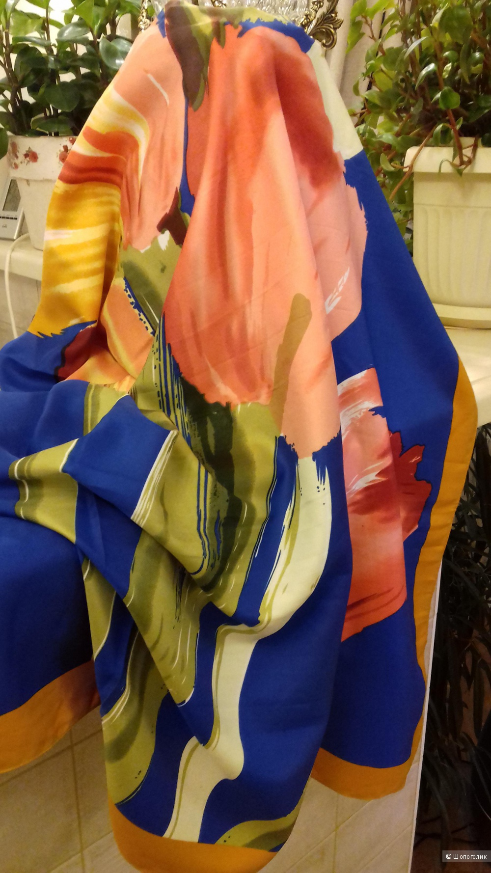 Шёлковый платок, 110*110