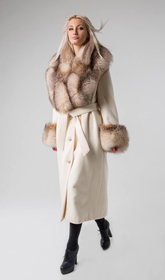 НТ Collection. Зимнее меховое пальто р.44-46