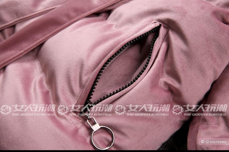 Велюровая куртка зима ,размер 46