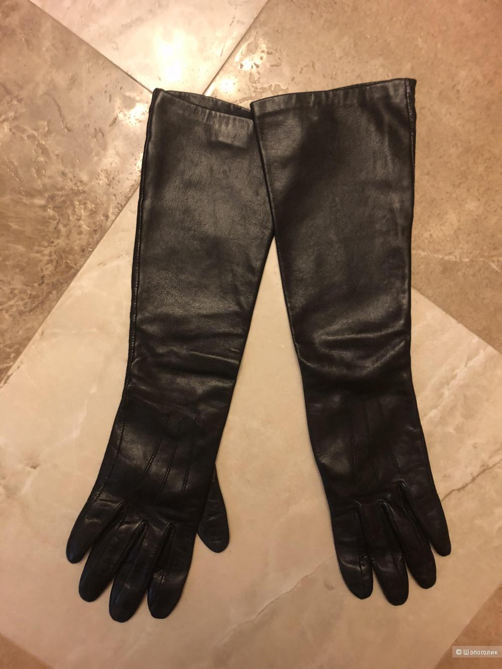 Кожаные перчатки размер 7,5.
