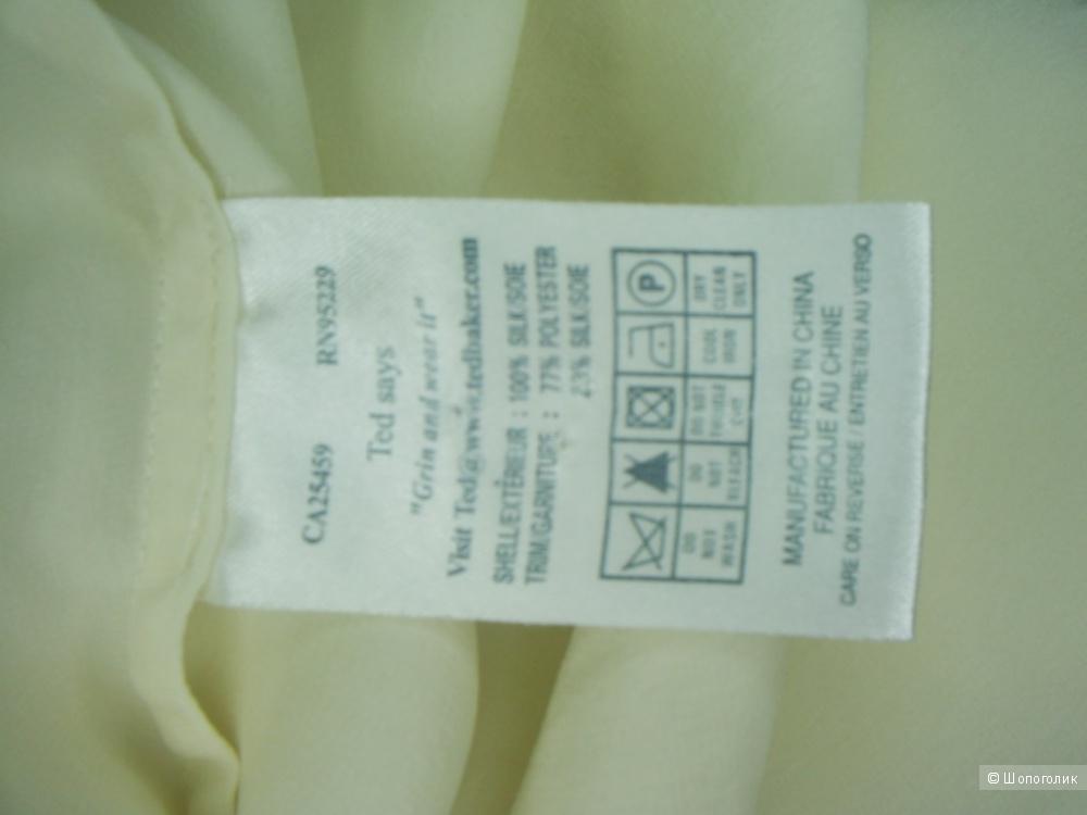 Шелковая блузка от  Ted Baker р 3 англ. на 48 рус.