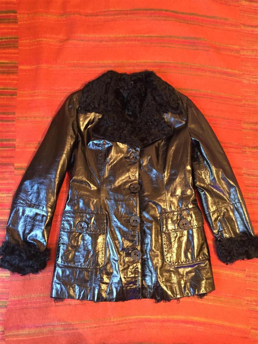Женская кожаная куртка, размер L