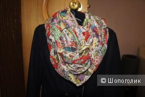 Хлопковый шарф-снуд