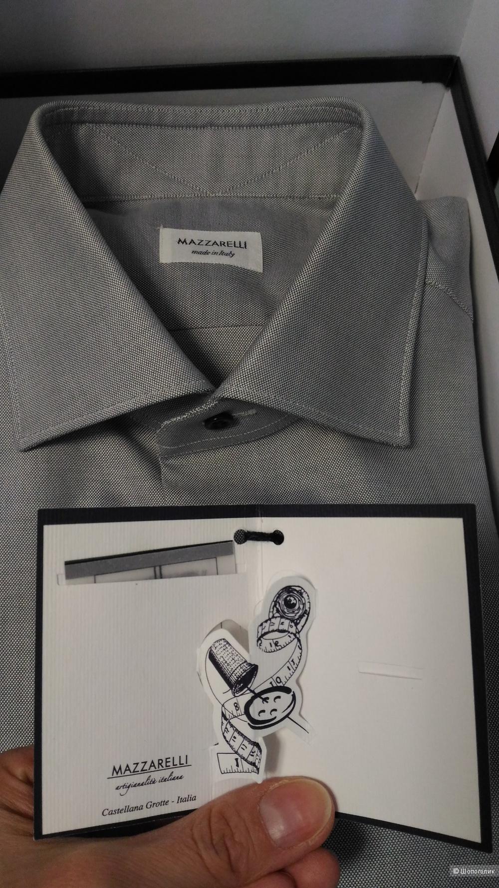 Мужская рубашка Mazzarelli, новая, 42 по вороту