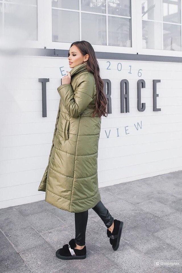 Зимняя куртка пальто,размер 44-46