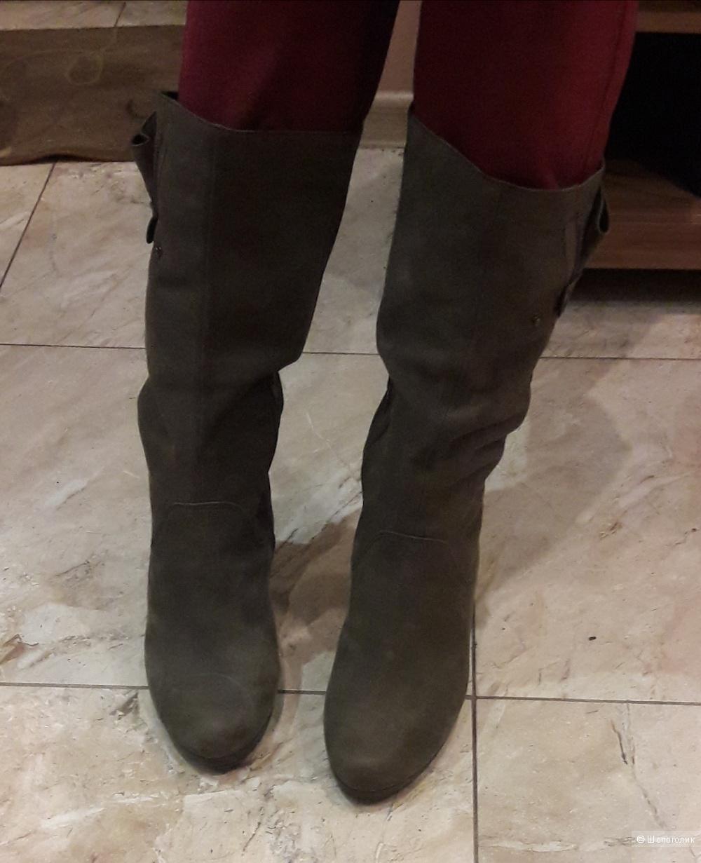 Кожаные сапоги Hogl 7 размера-39.5-40