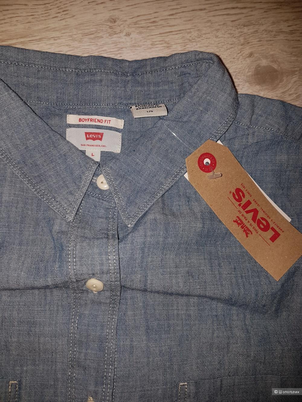 Джинсовая рубашка Levis. Размер L
