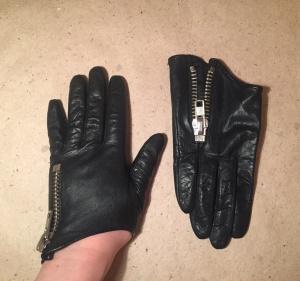 Перчатки H&M кожаные, размер S