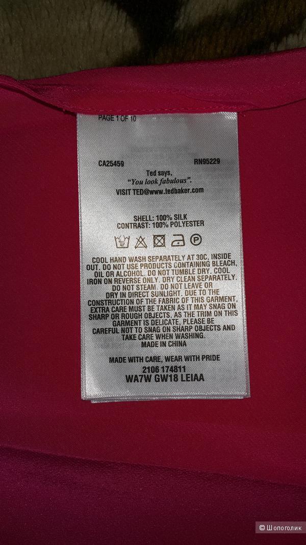 Шелковый топ Тэд Бакер размер 2