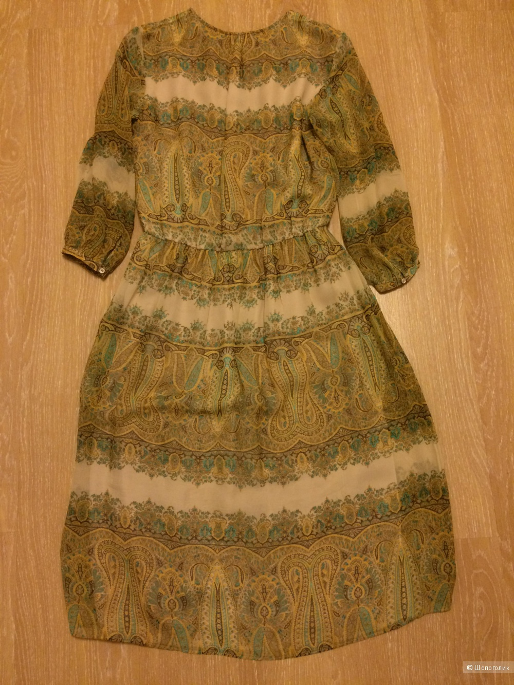 Шёлковое платье Massimo Dutti, р-р 44