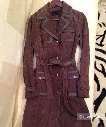 Пальто замшевое. Vero moda. 46-48 (L).