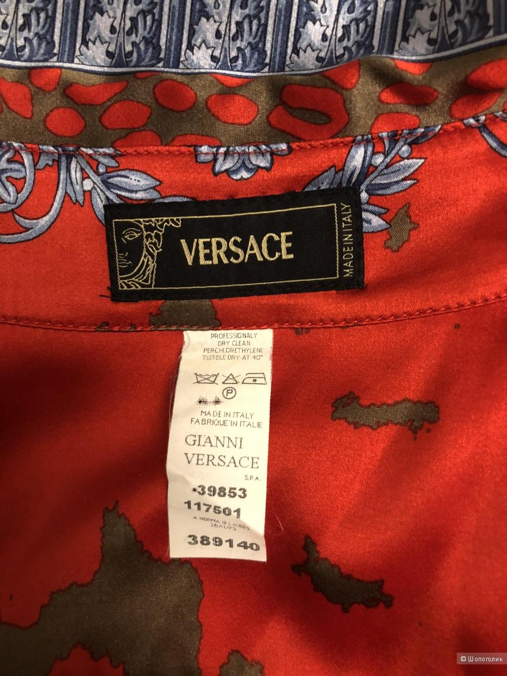 Шелковая блузка Versace размер  40it (42 rus)
