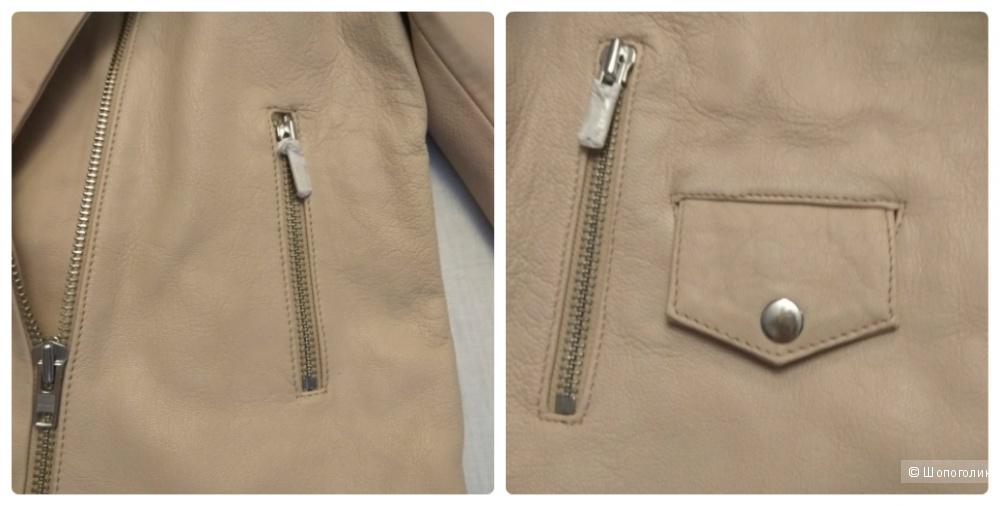 Кожаная куртка, Asos, р. 12 UK (на наш 46-48)