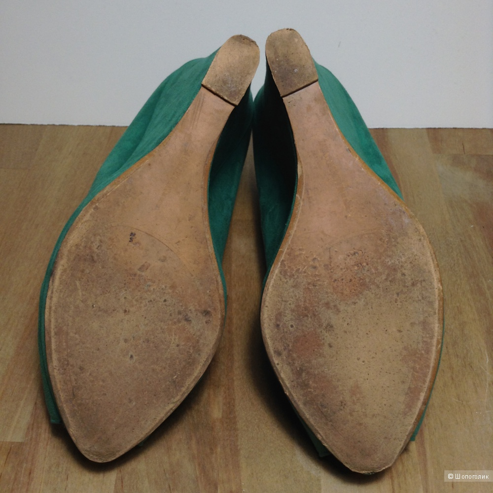 Велюровые туфли Zara, 38, б/у