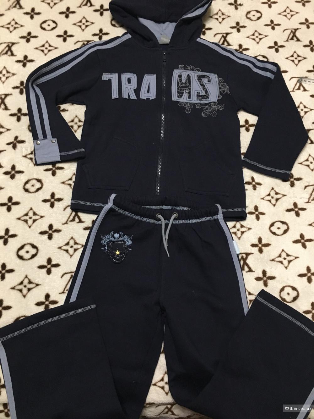 Детский утепленный спортивный костюм, размер 122 (7 лет)