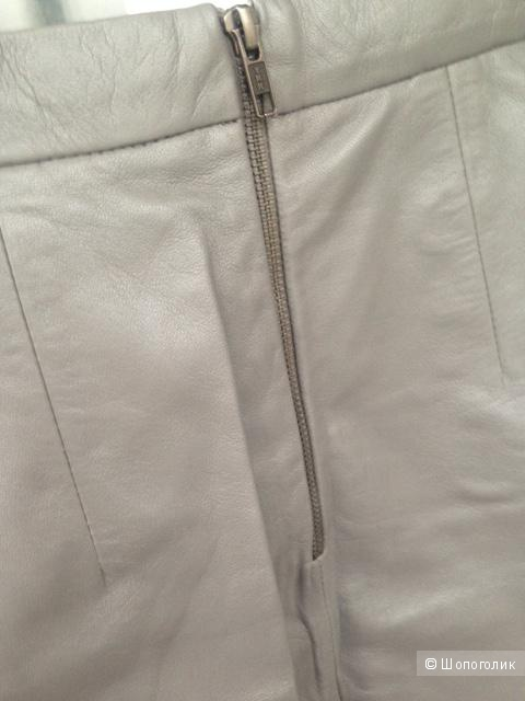 Кожаная юбка-трапеция Muubaa (размер 44-46)