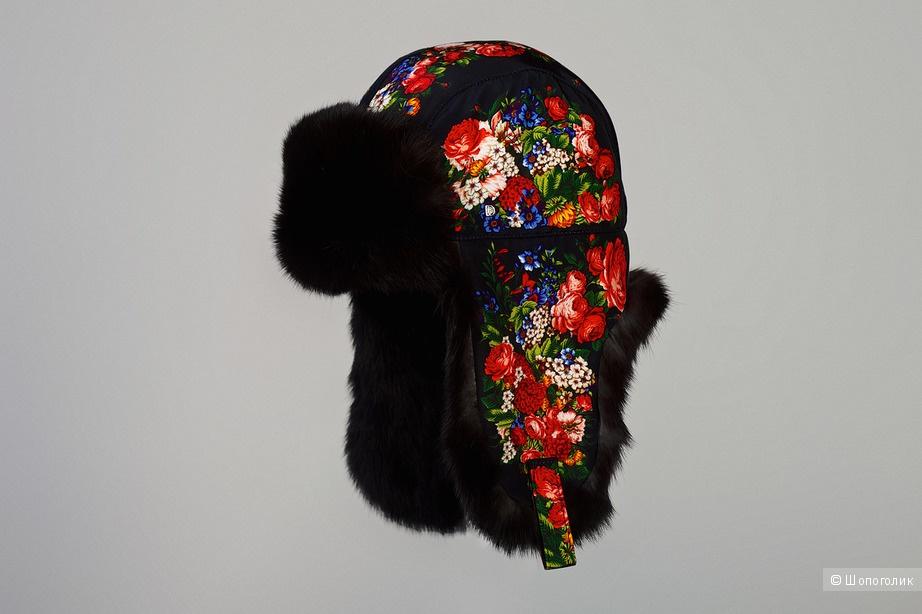 Шапка-ушанка женская , Dorofey, 59 р-р