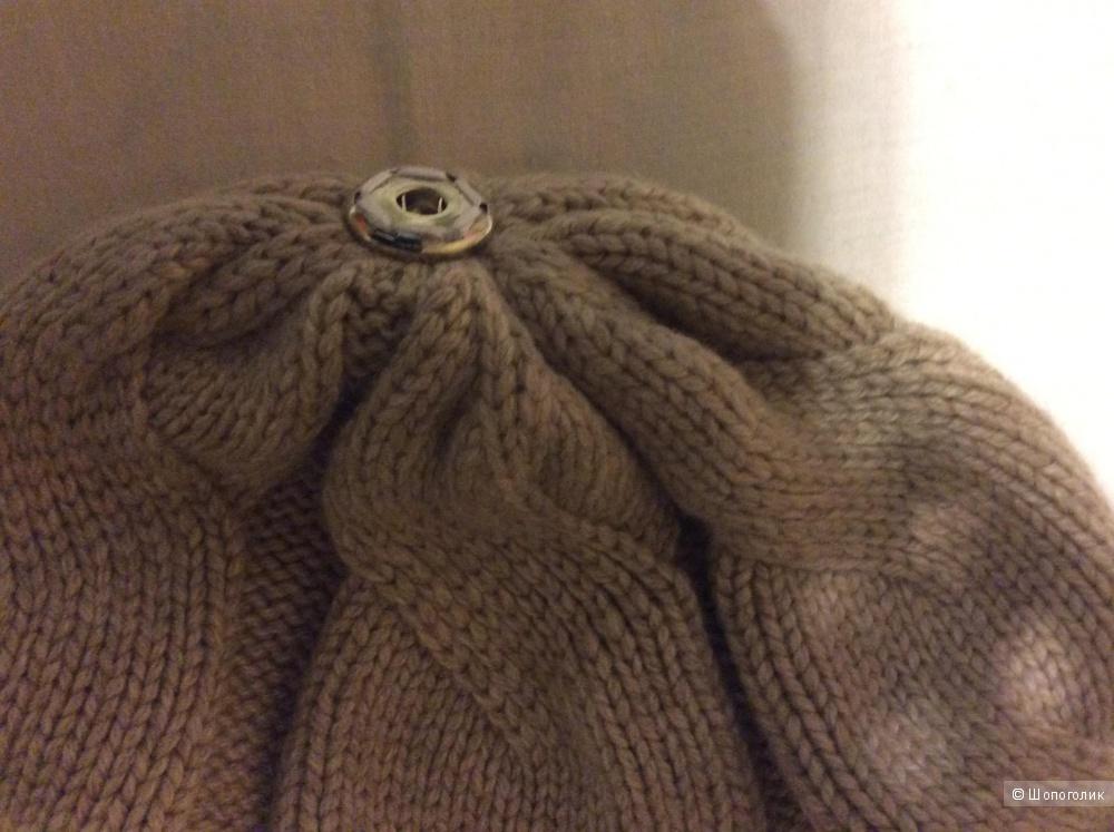 Шапка двойной вязки CHOBI, размер 54-56.