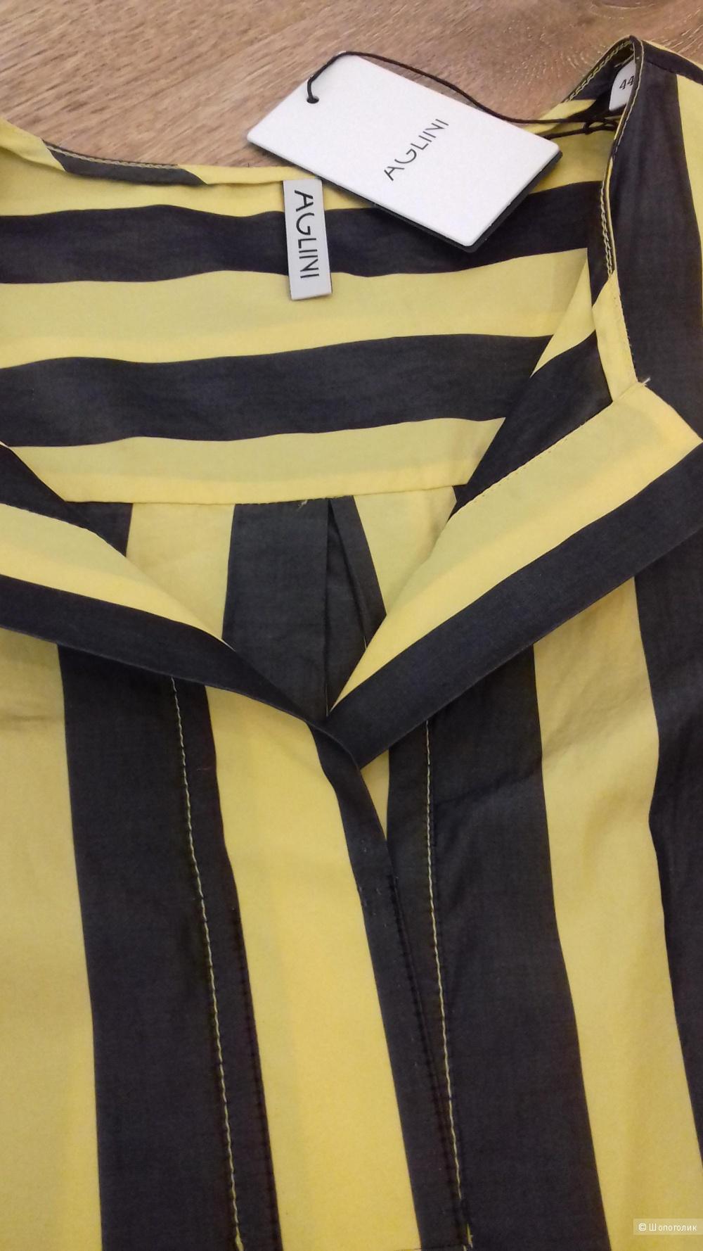 Блуза-рубашка, AGLINI, размер 42-44