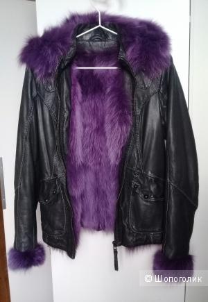 Женская кожаная куртка, размер 42-44